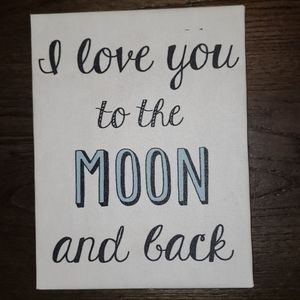 New I Love You To The Moon & Back Wall Decor